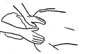 Обертання великих пальців біля основи шиї