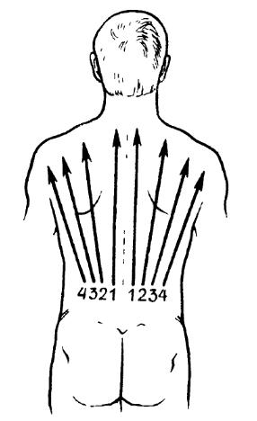 Попередній масаж спини