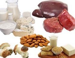 Продукти багаті вітаміном В