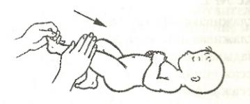 Погладжуючий масаж ніг