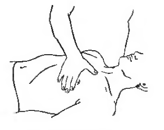 Прямолінійне погладжування грудної м'язи