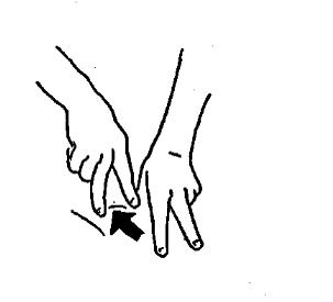 Розтирання кінчиками пальців