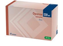 Капсули Орсотен слим в дозуванні 120 мг