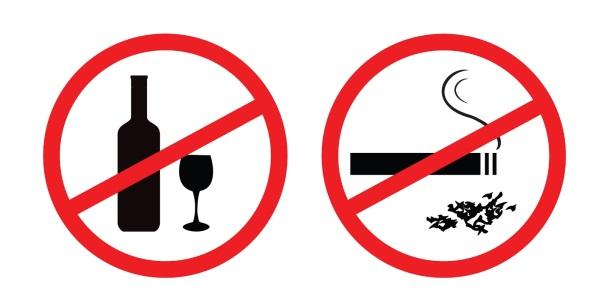 Перед процедурою не можна палити і вживати алкоголь.