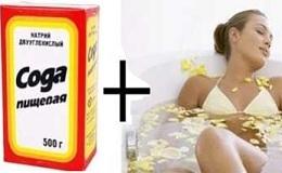 Ефективні рецепти содових ванн для схуднення