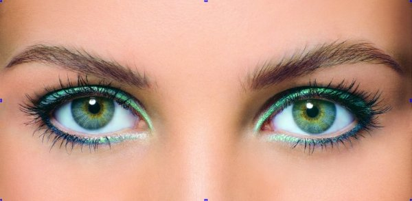 Гарний макіяж для зеленоокою дівчата з світлим відтінком шкіри.