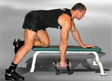 Ефективні вправи з гантелями для спини